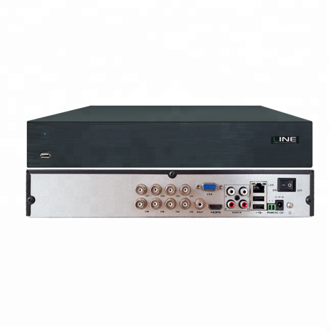 8 megapixel HDD 8ch H.264 AHD TVI CVI CVBS IP del cctv dvr di sicurezza 5 in 1 hybrid digital video recorder