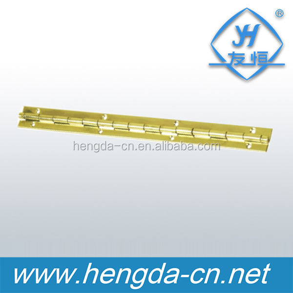 YH9018 Furniture hinge type long gold plated piano hinge