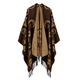 Ladies New Fringed thick winter cashmere poncho mujer retro stole cloak women' Shawl 0319030