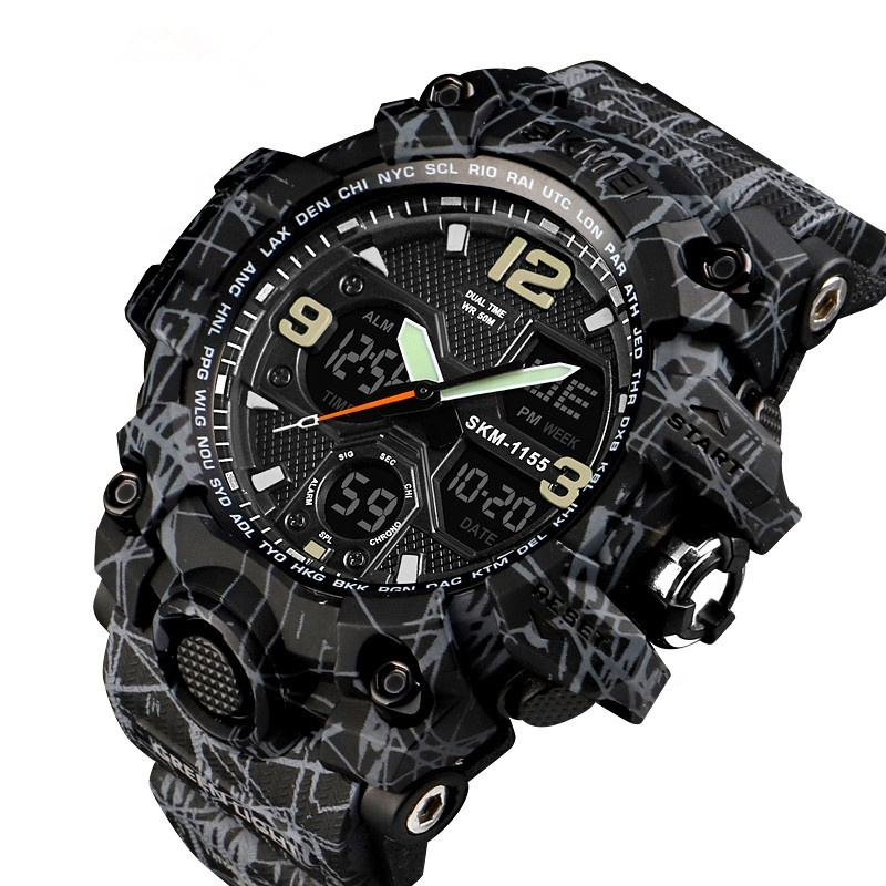 Skmei Top 3 Analog Digital Boy Brand Wrist Watch Army Military Shockproof Watches US Free Shipping