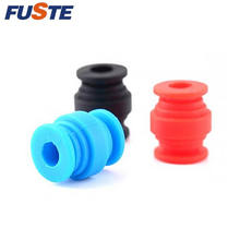 Molded rubber silicone damper