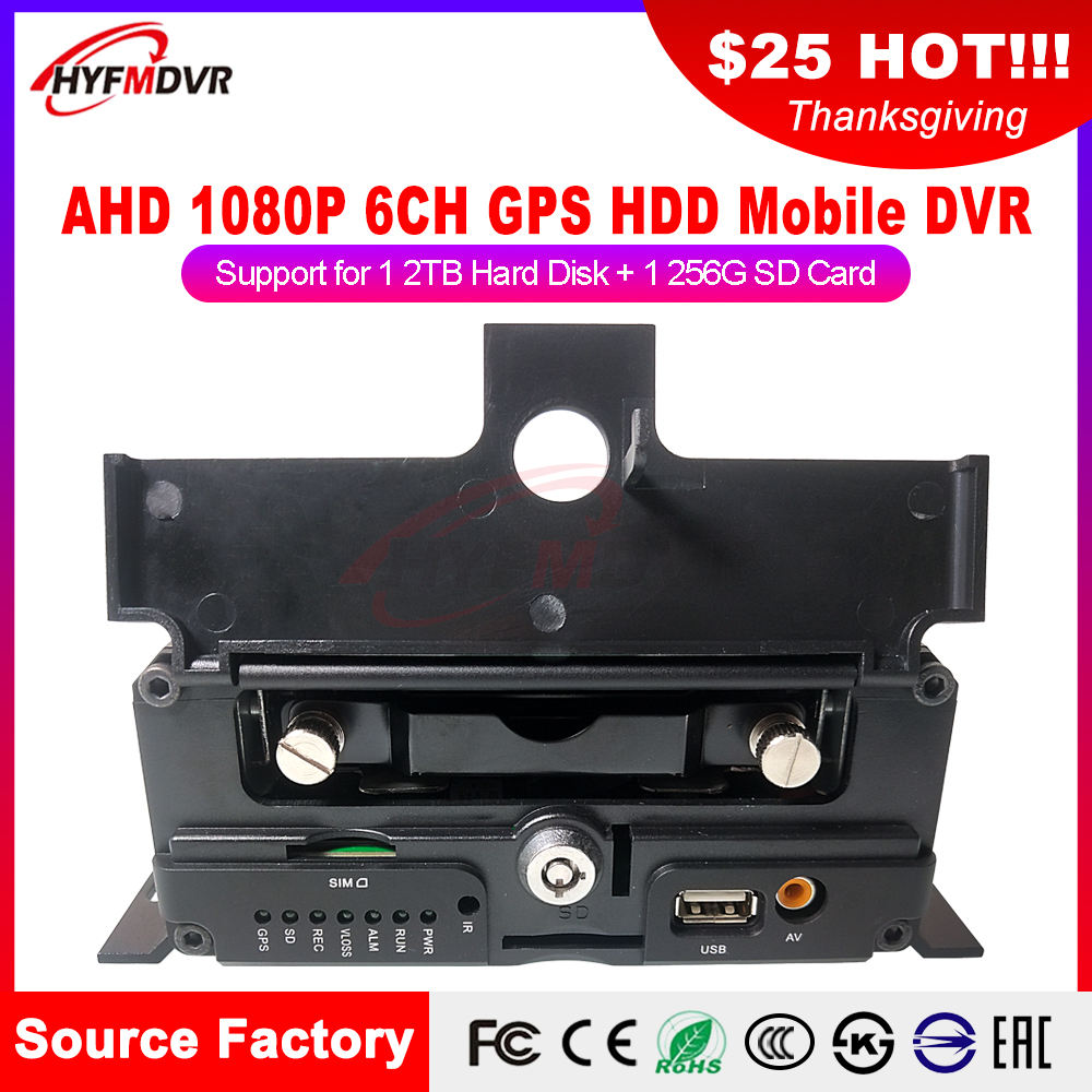GPS MDVR multi sprache interface menü 6 kanal SD karte auto video recorder positionierung fahrzeug überwachung host