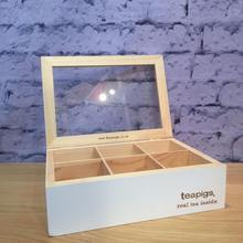 Manufacturer Wood Green Tea Bag Set Display Rack for Retail Store