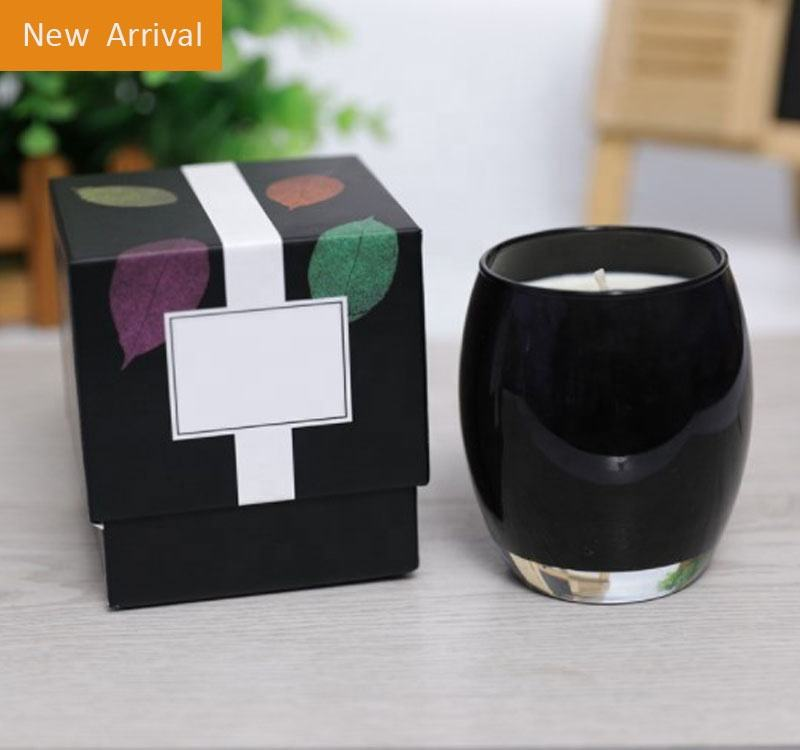 Wholesale Fragrance Candle in Glass Jar; Black and White Scented Candles