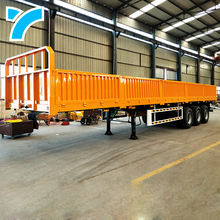 Hot sale 3/4 axles 40ft side wall semi trailer flat bed mini enclosed cargo dump truck trailer