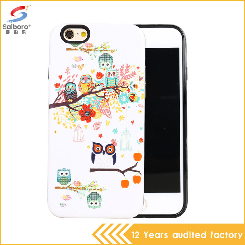 Fashion Butterfly flower 3D printing TPU PC shockproof back case cover for apple iPhone 6 6s