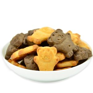 Healthy Snack Chocolate And Milk Baby Animal Biscuit Cracker