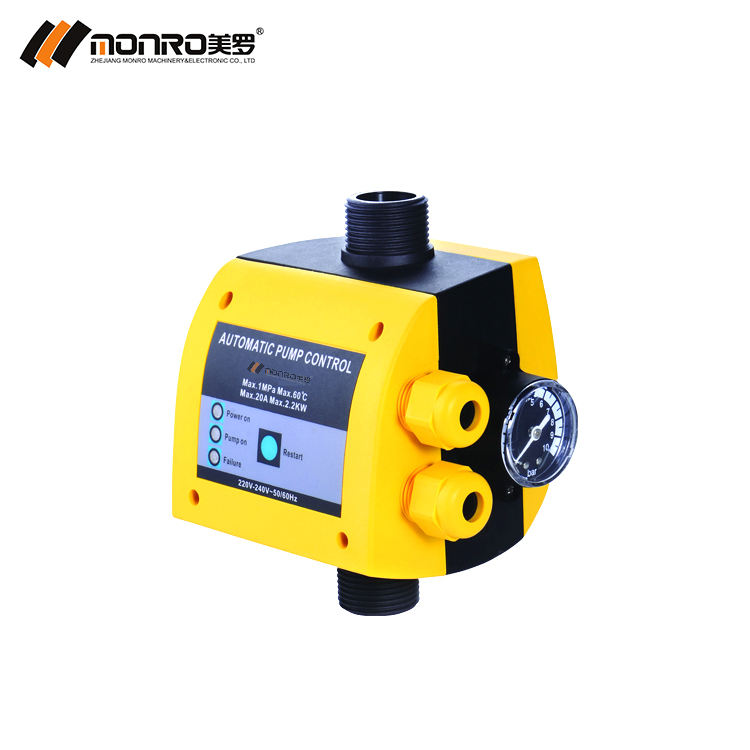 China Zhejiang monro EPC-9 30A high current electric pressure control water pump switch controllers press adjustable
