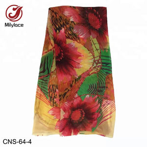 Korean japanese floral patterned printed silk chiffon fabric