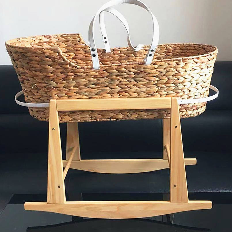 2019 new design seagrass baby moses basket and stand photo