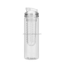 700ml Clear plastic fruit infuser water bottle manufacturer free sample