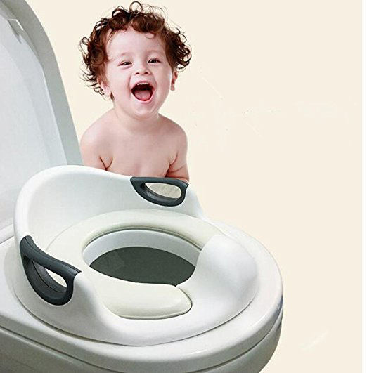 Portable Babies Potty Toilet Training Cushion Child Seat with Handles Toilet Seats Potty Ring For Round And Oval Toilets