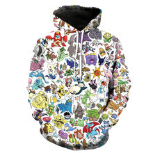 1 pcs Dropshipping 2019 Latest Design Blank Hoodie Sweatshirt Anime 3D Sublimation Hoodie