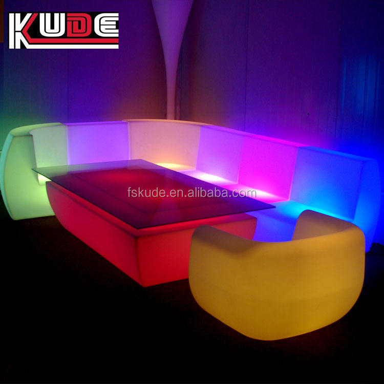 Living Room Sofa Center Table LED Table Glass