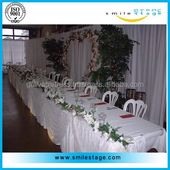 newest wedding decoration chair covers and table covers with high quality pipes and drapes