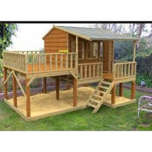 Wholesale prefabricated kids wooden play house for promotion