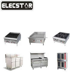 **PRO**Gas fryer/broiler/griddle/hot plate/stock pot/convection oven with ETL