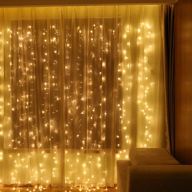 300 LED Window Curtain String Light for Wedding Party Home Garden Outdoor Indoor Wall Decorations light curtain