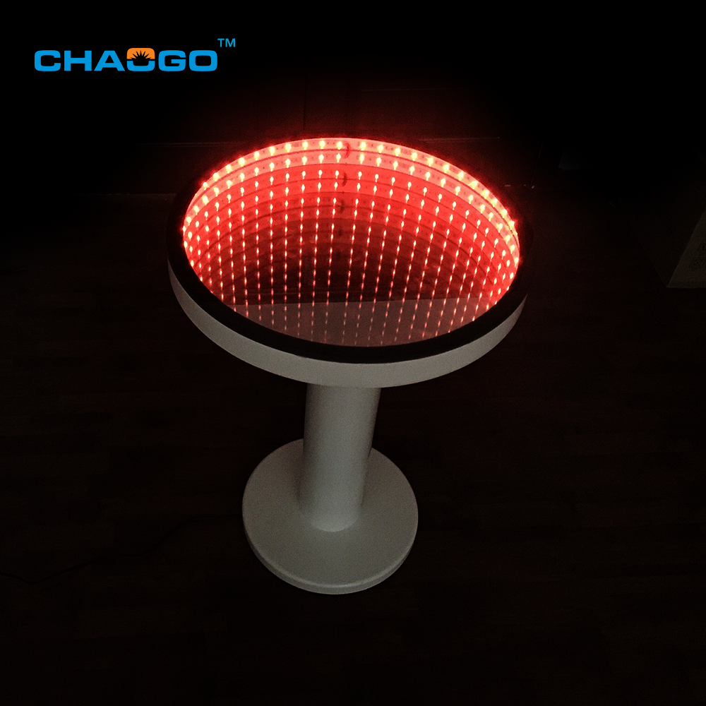 nightclub bar furniture table 3d infinity round illuminated led lighted coffee table
