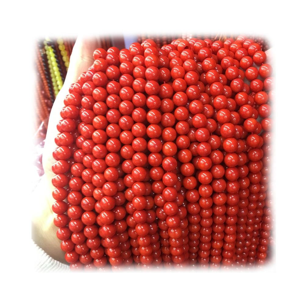 Natural White Bamboo Coral Smooth Round Loose Beads Size 6//8//10mm 15.5/'/' Long