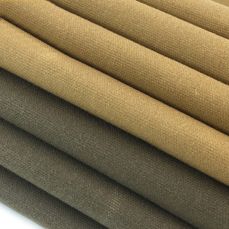 Thick oil wax coated custom dyed canvas woven windbreaker fabric