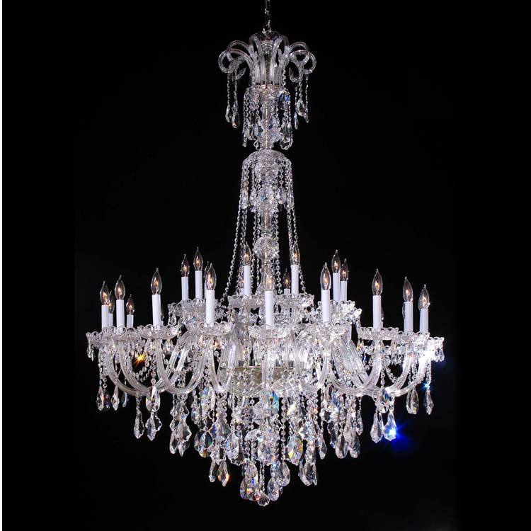 Long crystal chandelier lights Traditional pendant light