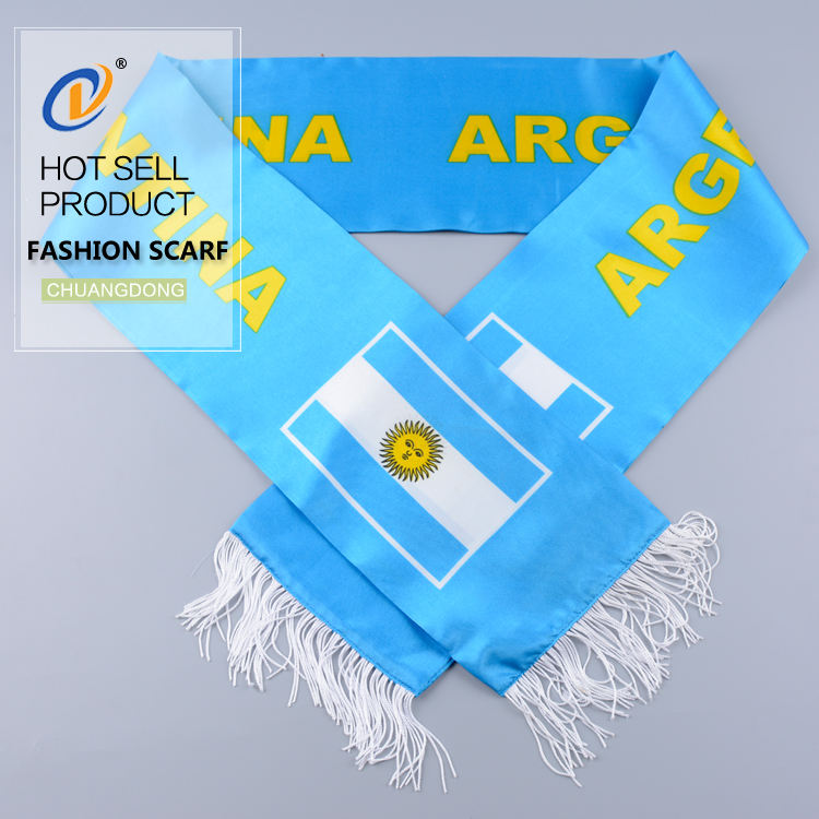 Factory direct national country acrylic blue import scarf