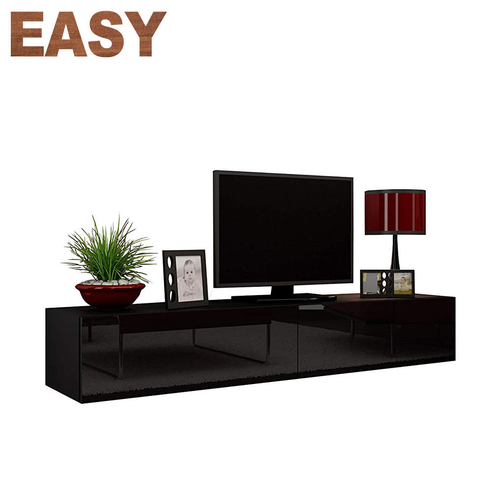 Living Room Furniture High Gloss Wood Wall Hanging Floating TV Cabinet For Sale