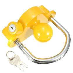 YH9006 Trailer Hitch Coupler Lock Black with 3 Keys(Keys Available: Alike & NOT Alike!)