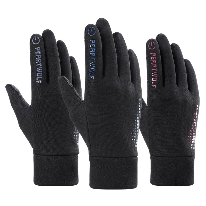 Custom touch screen man hand warm sport bike cycling winter gloves for man