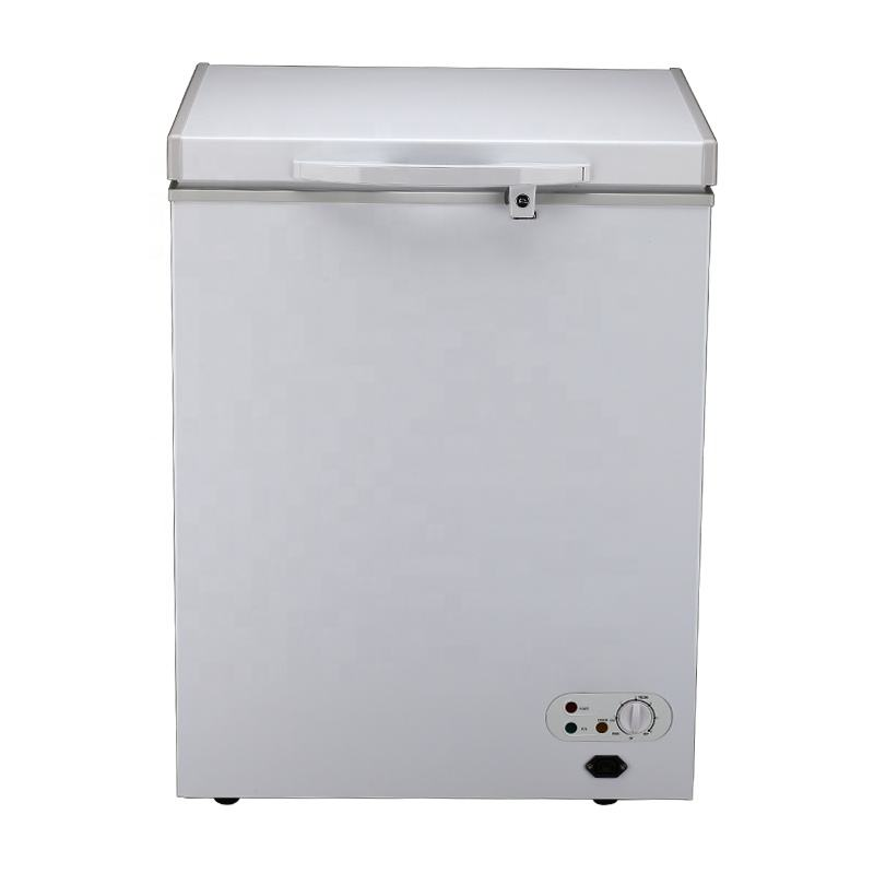 162L dc solar refrigerator rechargeable battery powered dc compressor 12v 24v chest freezer