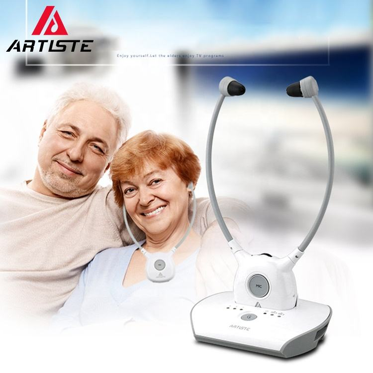 China Wholesale Digital Wireless TV Earphone Best Selling Old Man 2.4G Hearing Aids Headphones