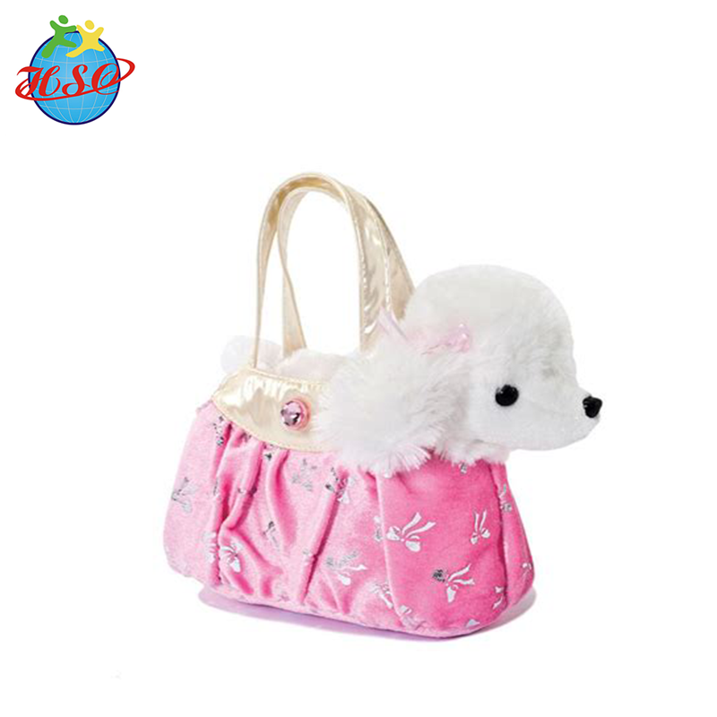 EN71/ICTI factory fancy pals plush cuddly soft toy animal in bag