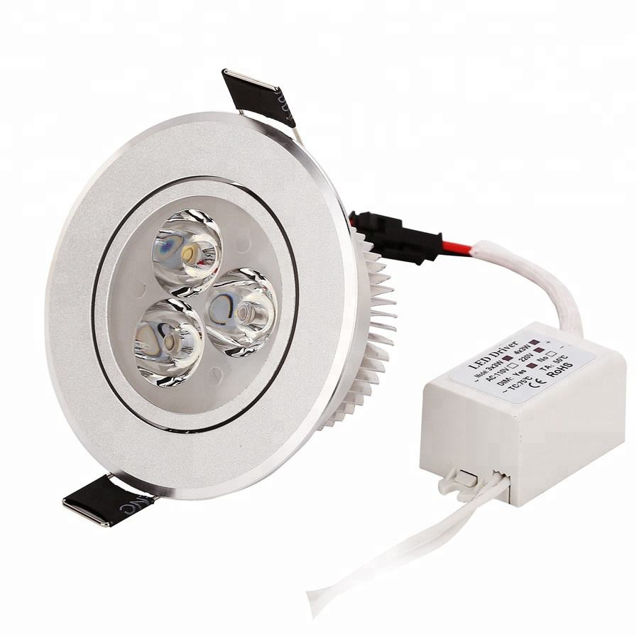2018 modern design led plafondlamp 3 watt 110 v 220 v led downlight