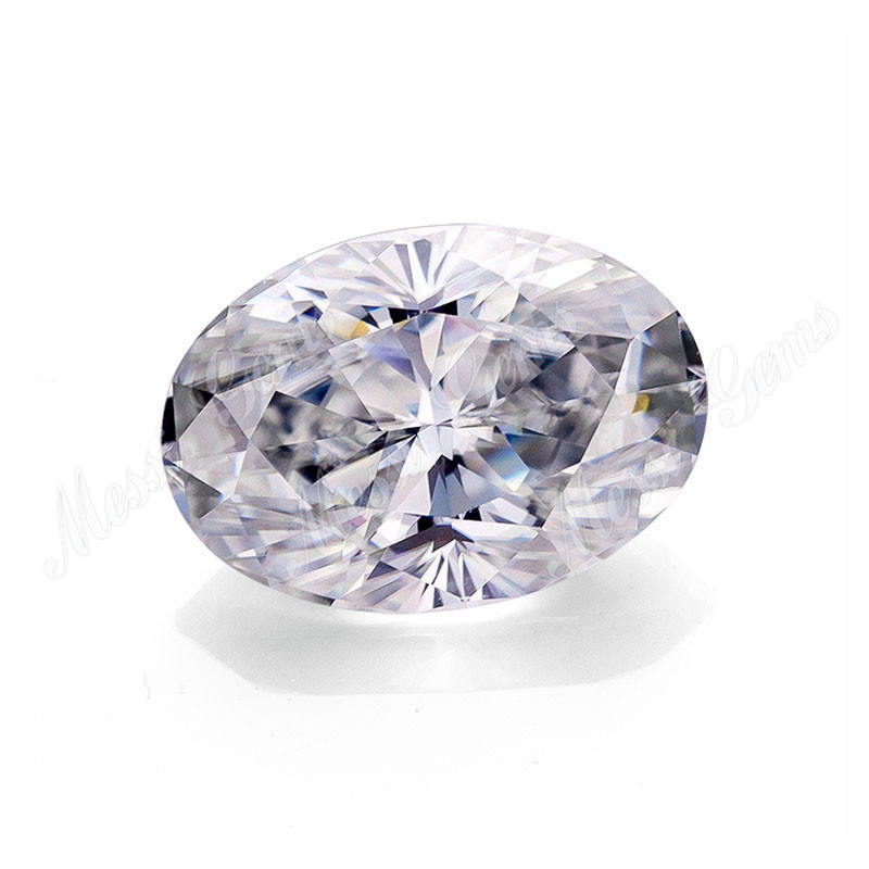 Losse 1.1 carat oval cut 8x6mm EF wit moissanite steen
