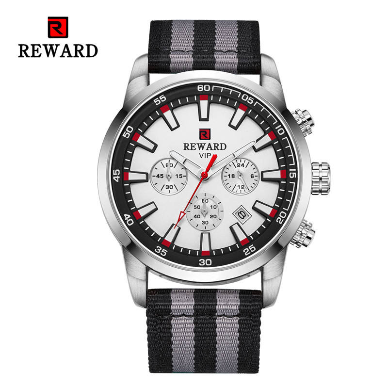 RD63090M Mens Fashion Business Watch Nylon Waterproof Cleaning Cloth Watch