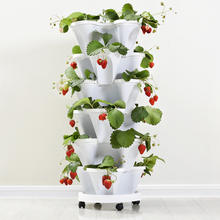 Something new design balcony plastic flower pot vertical tower garden
