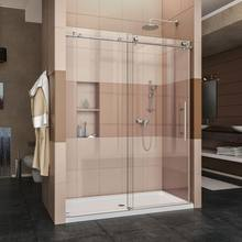 Custom Bathroom Shower Room Enclosure Frameless Sliding  Tempered Glass Shower Door