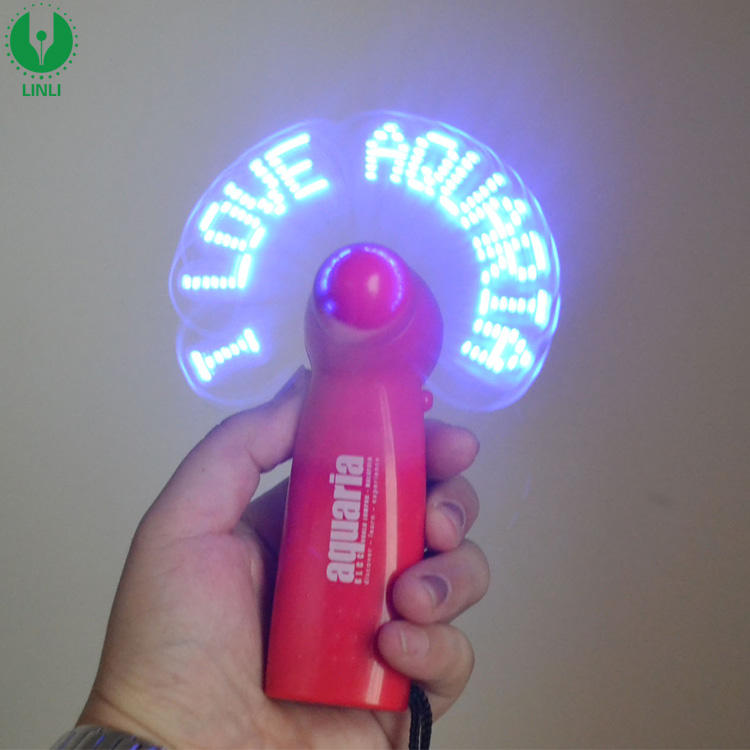 Giveaways Custom Led Message Light Logo Unique Wedding Hand Fan Souvenirs