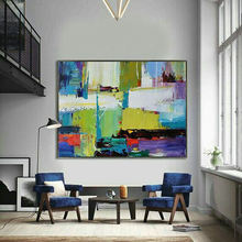 New Products Nordic Art Craft Large Framed Home Decor Abstract Oil Paintings