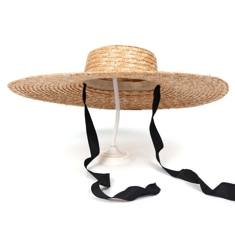 Wholesale Summer Fashion Girl Big Wide Brim Sombreros Panama Sun Hat Ribbon Rope Natural Beach Straw Hat For Women