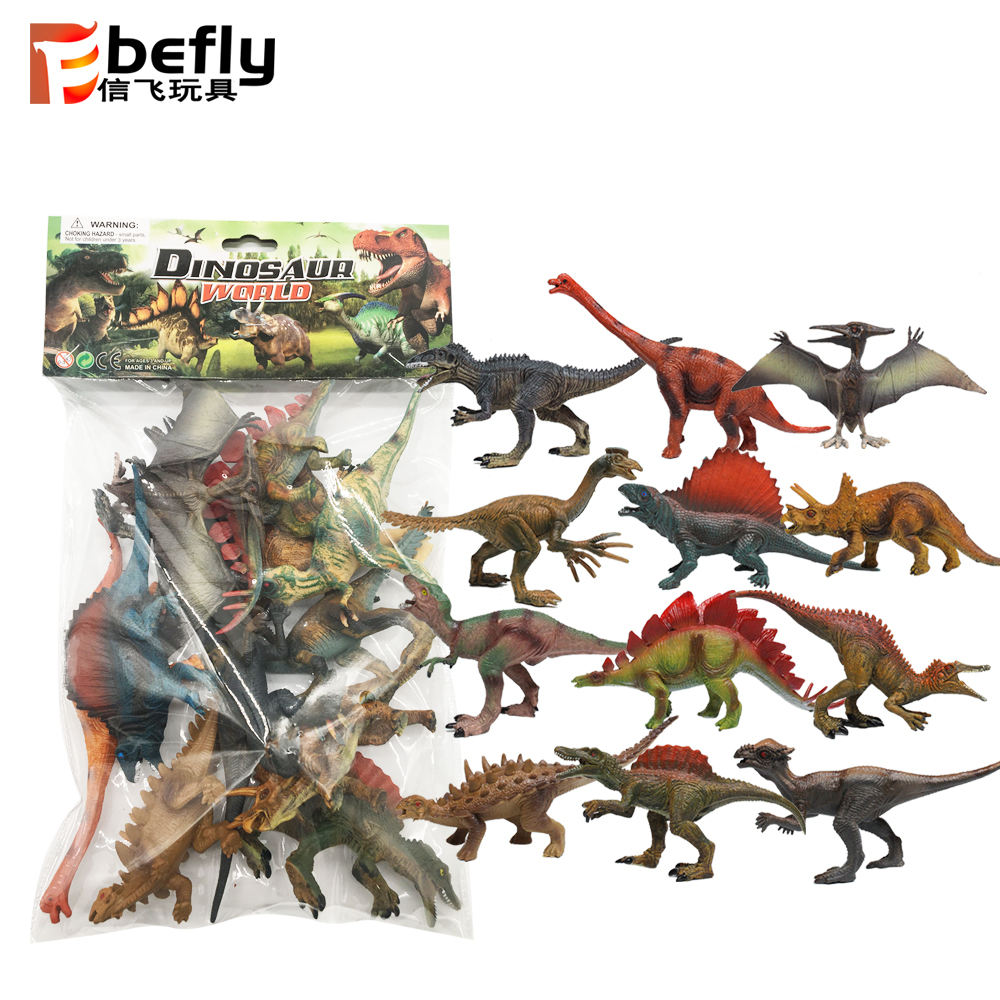 2019 new 7'' solid 12 kinds figure wholesale plastic dinosaur toys