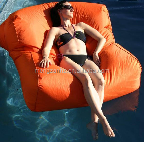 Oversize pool bean bag for floating large water bean bag