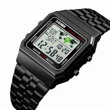 SKMEI 1338 World Time Digital Men's Watches Fashion LED Digital Military Sport Quality Branded Waterproof Wristwatch