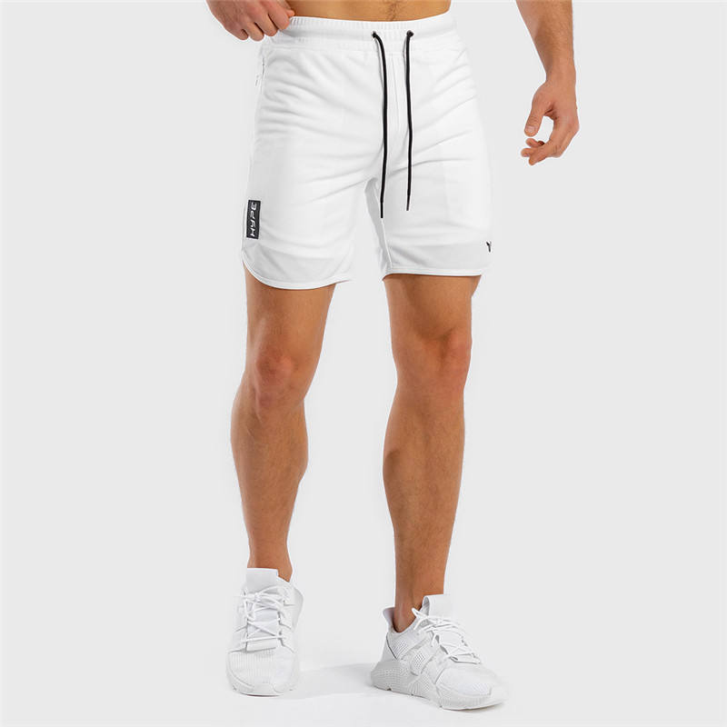 Xiamen fitness clothing factory custom sweat shorts summer training polyester dry fit workout shorts for men