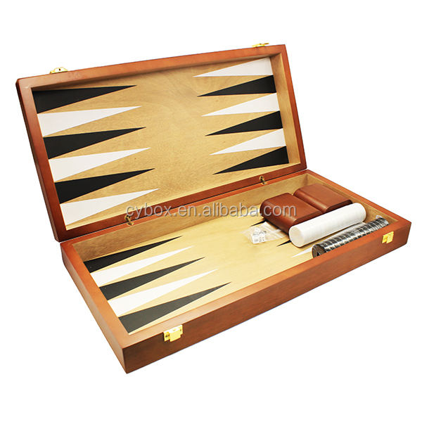 Made in China Houten Custom Schaken <span class=keywords><strong>Backgammon</strong></span> Spel <span class=keywords><strong>Doos</strong></span>