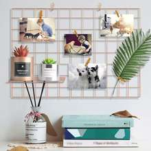 Metal Wire Mesh Grid Wall Decor Wall Hanging for Photo Hanging Display