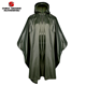 Military olive green PVC rain gear waterproof coat poncho