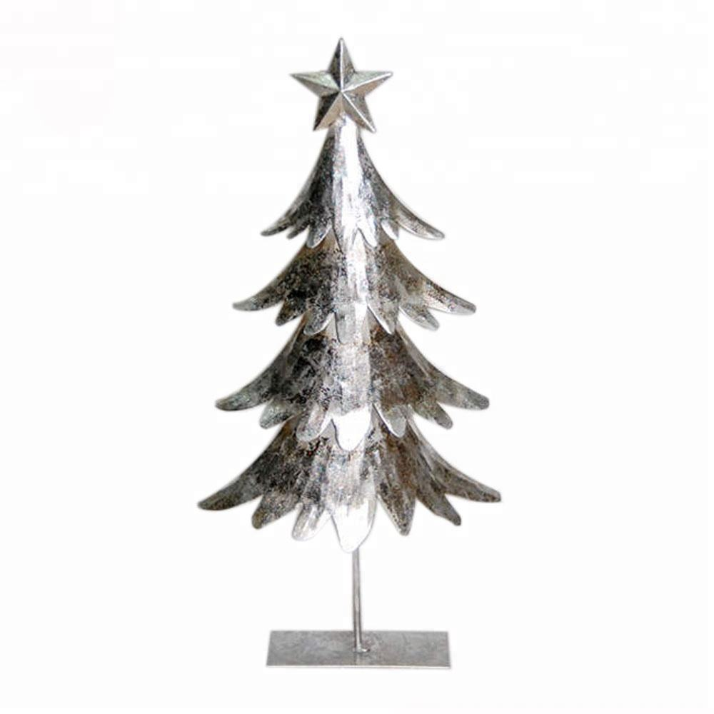 Mini Kunstmatige Lichten Gepersonaliseerde Metalen Kerstboom Ornamenten Decoratie Top Ster