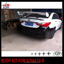 New PP plastic material full set big body kit for eighth sonata include front back bumper and side skirts